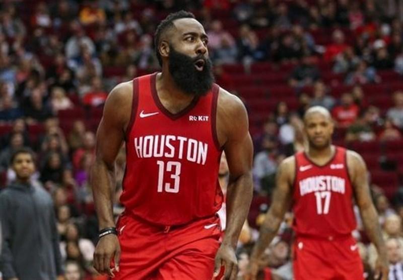 لیگ NBA، پیروزی راکتس با شاهکار هاردن، وریرز و تاندر شکست خوردند