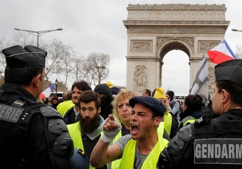 درگیری پلیس فرانسه با معترضان جلیقه زرد در استراسبورگ
