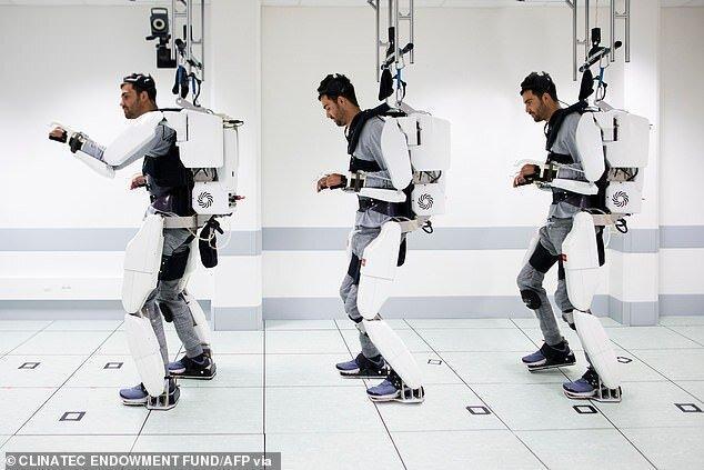 فیلم ، اسکلت خارجی روباتی برای راه رفتن بیمار قطع نخاعی