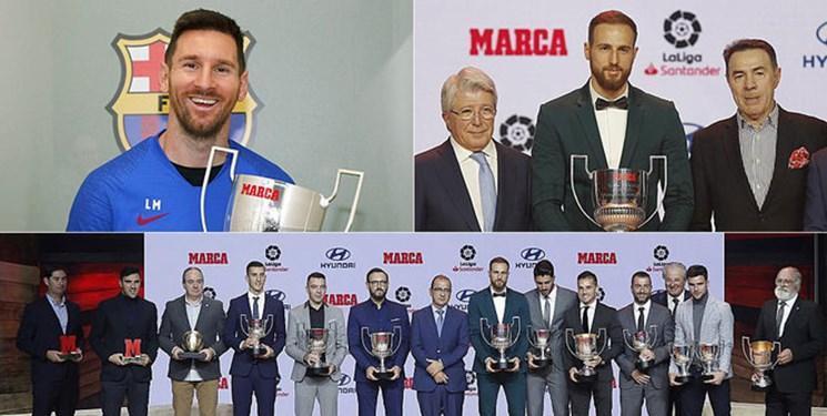 مسی و اوبلاک برترین های فوتبال اسپانیا شدند