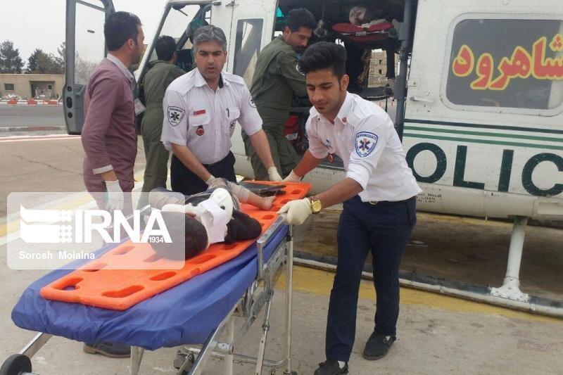 خبرنگاران مصدوم شدن هفت تن در واژگونی 2 خودرو