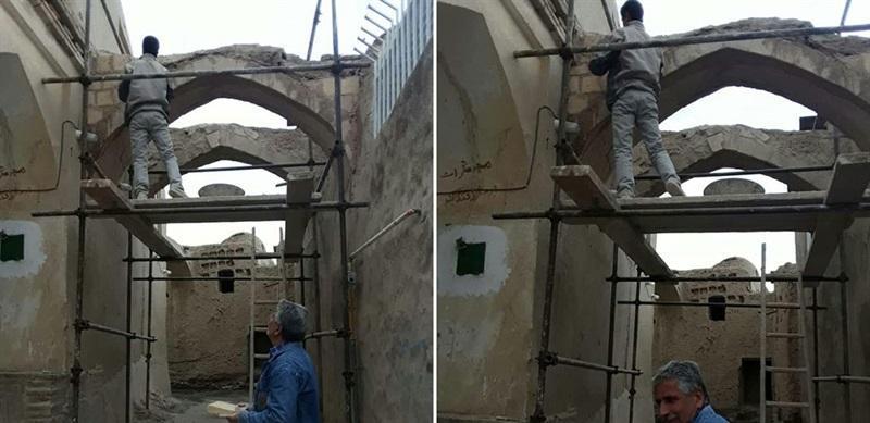 بازسازی ساباط های محله محمدیه نایین