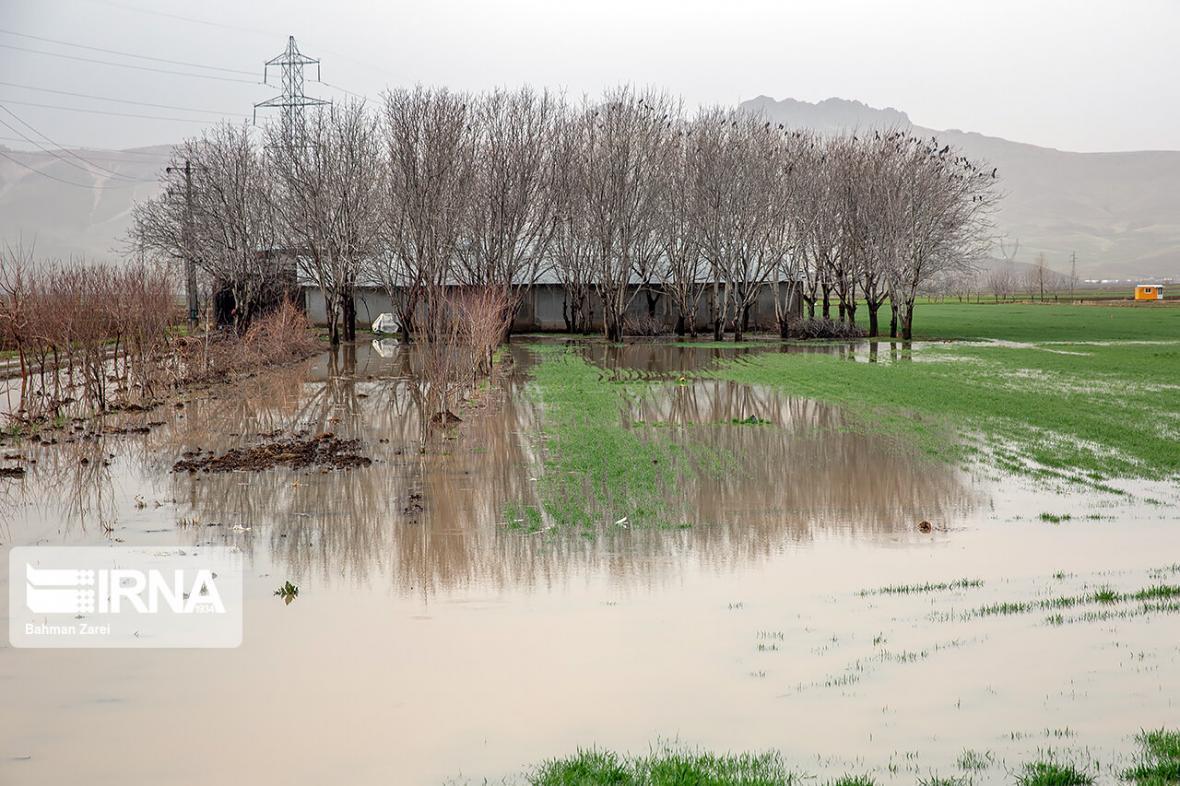 خبرنگاران علت بالا آمدن آب های سطحی شهر غلامان خراسان شمالی معین شد