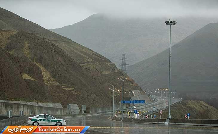 انسداد راستا شمال به جنوب آزادراه تهران ـ شمال تا اطلاع ثانوی