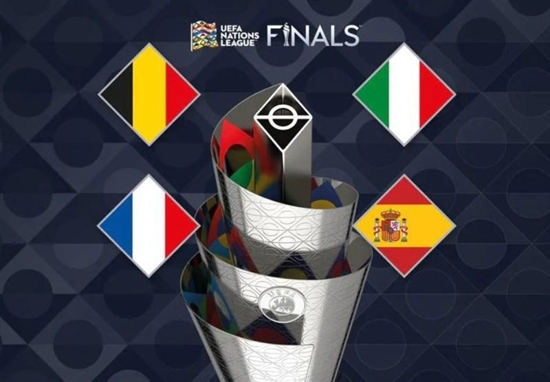 قرعه&zwnjکشی مرحله نهایی لیگ ملت&zwnjهای اروپا، اسپانیا حریف ایتالیا شد، فرانسه به مصاف بلژیک می&zwnjرود