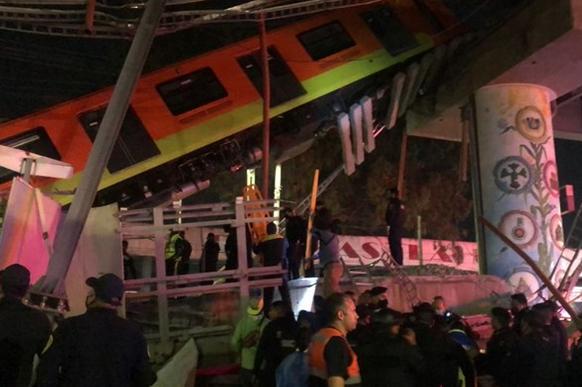ریزش پل قطار شهری در مکزیکو سیتی؛ 20 کشته و ده ها تن زخمی