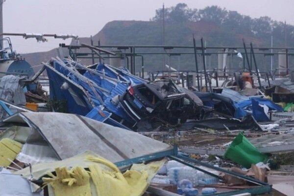 گردباد در ووهان 6 کشته و 218 زخمی بر جای گذاشت