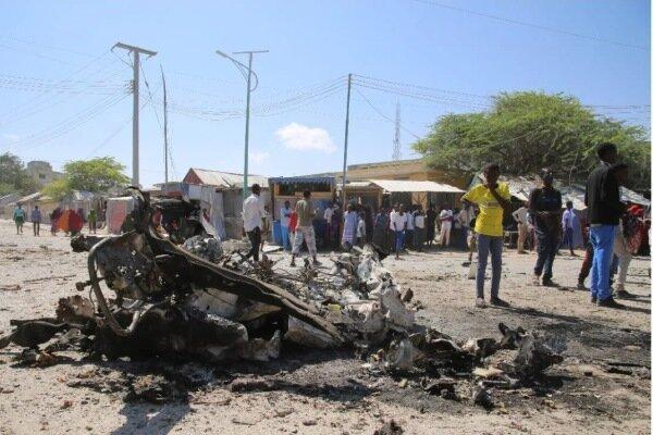 انفجار خودروی بمب گذاری شده در موگادیشو با 3 کشته و 8 زخمی